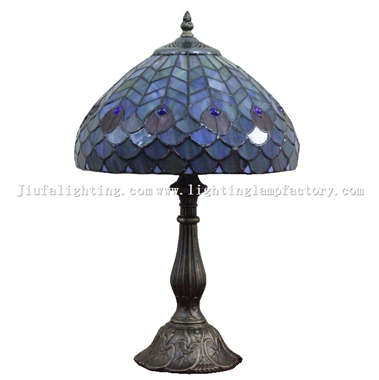 TL120206 Peacock Feather Tiffany Table Lamp Peacock flaunting its tail  Home Decoration