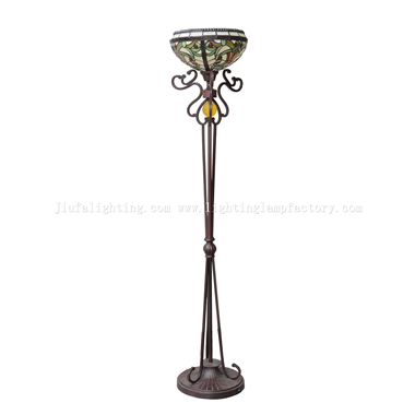 FL120009 Tiffany torchiere floor lamp uplight floor light