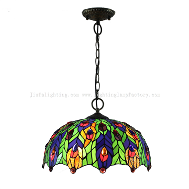 PL160096 Peacock tiffany pendant lamp
