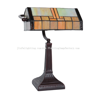 BL100001 tiffany bankers lamp stained glass desk lamp