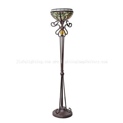 FL120009 Tiffany torchiere floor lamp uplight floor light