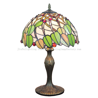 TL120210 12 inch Leaves Flutter in The Wind Tiffany Lamp  Stained Glass Lighting Home Decoration