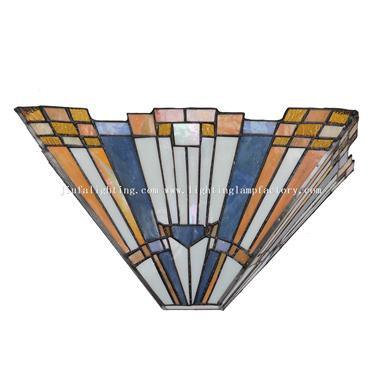 WL120052 Tiffany style Inglenook Wall Sconce Geometric Wall Light