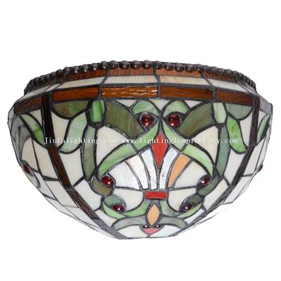 WL120071 Tiffany Style Wall Light Uplighter Stained Glass Wall Lamps