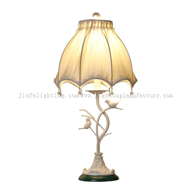 TRF120014 Bird Metal Table Lamp Umbrella Lampshade