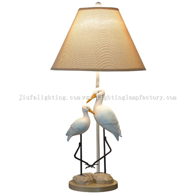 TRF140012 Swan pair birds table lamp wedding lamp