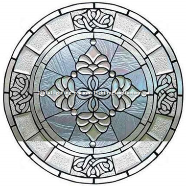 GP0075 Handcrafted All Clear stained glass Beveled window panel