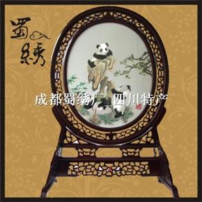 成都蜀绣熊猫步步高