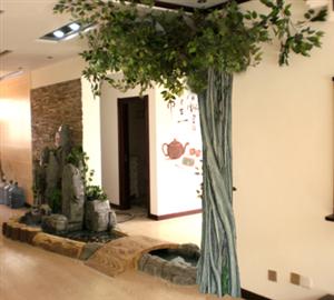 佳木斯室内微型鱼池假山景观雕塑