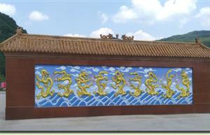 九龙壁仿铜浮雕壁画首选佳木斯景观雕塑