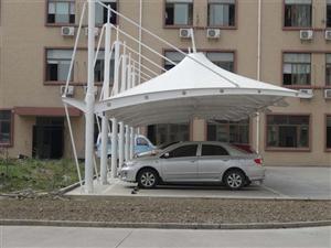 台州嘉兴金华膜结构汽车棚_源卡多遮阳棚厂家