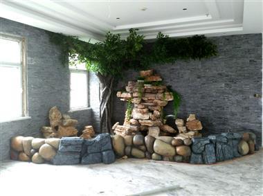 室内假山水景佳木斯雕塑
