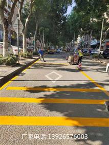 道路划线施工,市政道路改造