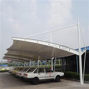 济宁菏泽烟台膜结构车棚_源卡多膜结构厂家