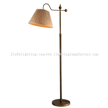 FL00004 Fabric lampshade tradional floor lamp