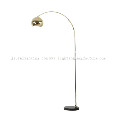FL00001 Stainless arc lamp floor lamp reading lights marble lampbase