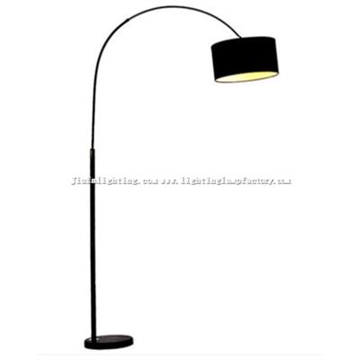 FL00002 Arc floor lamp/light burlap lampshade