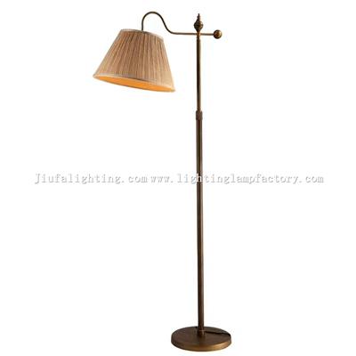 FL00004 Fabric lampshade tradional floor lamp
