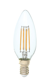 E14 C35 LED filament bulb 3w 320lm