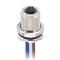 M5-4芯 母頭 板端前鎖插座 焊接型接線