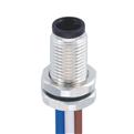 M5-4芯 公頭 板端前鎖插座 焊接型接線