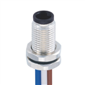 M5-3芯 公頭 板端前鎖插座 焊接型接線