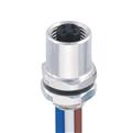 M5-4芯 母頭 板端后鎖插座 焊接型接線