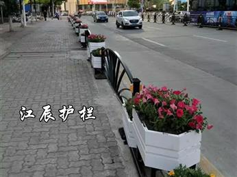 海淀区花箱美化城市护栏样式