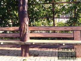 仿真樹制作 水泥假樹大門仿木欄桿護欄花架施工