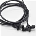 M12 T型公頭+母頭帶線分轉接頭 塑膠螺絲