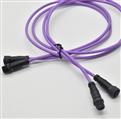 M12 終端電阻 雙頭帶線 公頭接母頭 塑膠螺絲