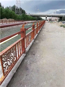 铝合金仿木河道护栏