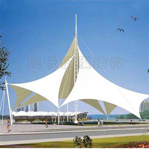 杭州膜结构园林景观_源卡多景观伞_景观膜结构_专业厂家报价