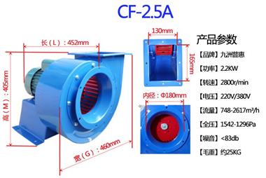熔噴布風機,九洲普惠風機,CF-2.5A-2.2KW熔噴布風機