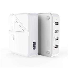 欧菲斯HW190 021桌面4口USB家用安全电源
