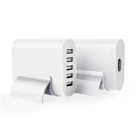 欧菲斯HW023椭圆5口usb多功能插线板家用安全电源