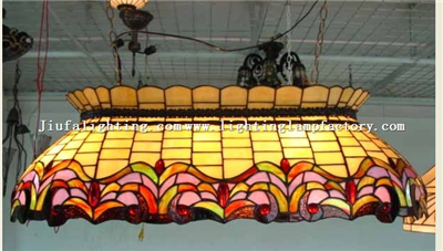 PL360001 Tiffany style pool lounge billiard light stained glass pool table light