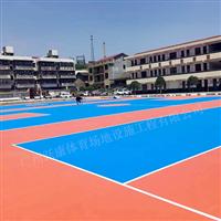 篮球场地板硅PU蓝球场羽毛球场塑胶地垫网球场地胶
