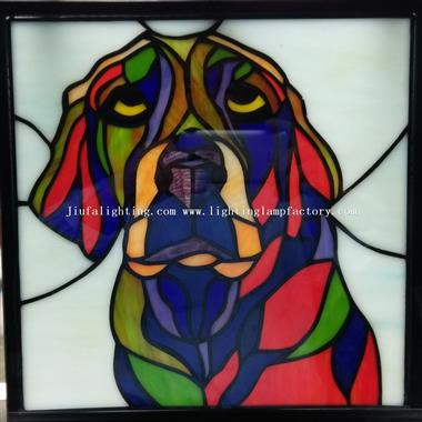 GP0099 Stained glass pet portrait hanging panel