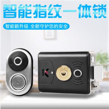 双面庭院专用指纹密码锁(集刷卡一体门禁锁不锈钢别墅电控锁定位舌设计WF-014B)