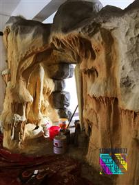 人造溶洞施工 人工溶洞餐廳洞穴酒店制作仿真山洞施工