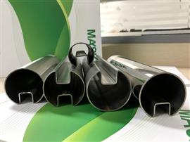 Stainless Steel Round Slot Tube for Glass Assembling