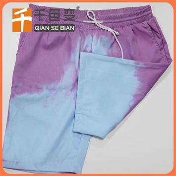 变色沙滩裤游泳裤 遇水变色温变裤子