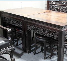 回收红木八仙桌上海老红木桌子回收苏州无锡南通红木八仙桌回收