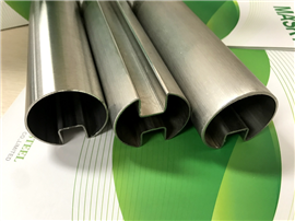 Glass Holding Stainless Steel Round Slot Tube