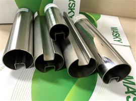 Stainless Steel Handrail Fitting Slot Tube