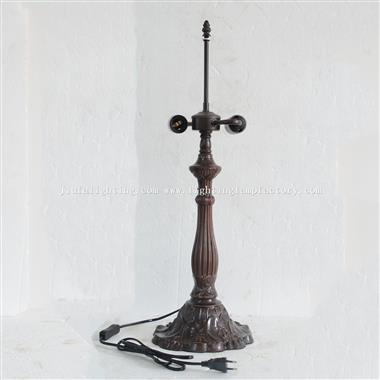B0001L Large Size Table Lamp Floral Base Only Suitable for 16 inch(40cm) Lampshade 2xE27/E26 Bulb Ho