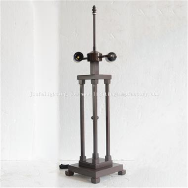 B0004 Large Size Metal Iron Square Table Lamp Base Only Suitable for 16 inch(40cm) Lampshade 2xE27/E
