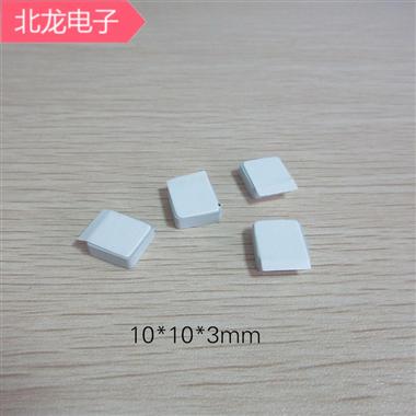 碳化硅陶瓷片10*10*2/*3/*5/*10mm可背膠 散熱片 LED用散熱陶瓷器