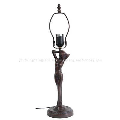 B0003 Art Deco Lady FigurineTable Lamp Base Only Suitable for 12 inch(30cm) Lampshade 1 E27/E26 Bulb